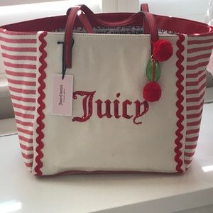 Juicy Couture Cabana Tote red stripe